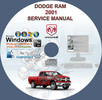 Thumbnail DODGE RAM 1500 2500 3500 4000 RAM PICKUP 2001 2002 MANUAL