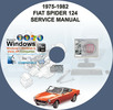 Thumbnail FIAT SPIDER 124 1975-1982 SERVICE REPAIR MANUAL